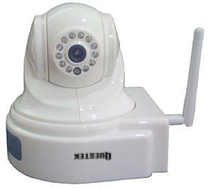QUESTEK - QTC-907w: Camera IP màu không dây, H.264, xoay 4 chiều
