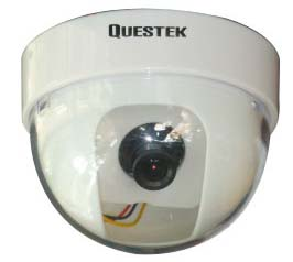 QTC-304c --QUESTEK-- Camera Dome 1/3 Sony CCD, 500 TV Lines