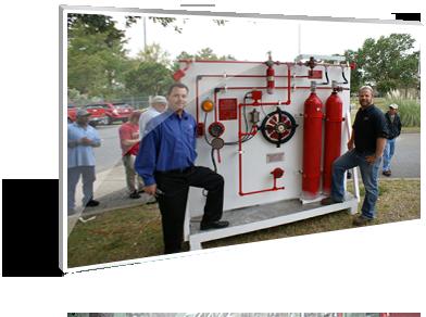 Chữa cháy khô, Chữa cháy tự động - fire extinguishing system